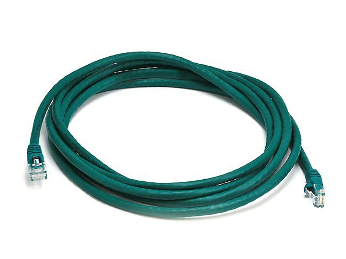 Cat5e 24AWG UTP Ethernet Network Patch Cable, 10ft Green