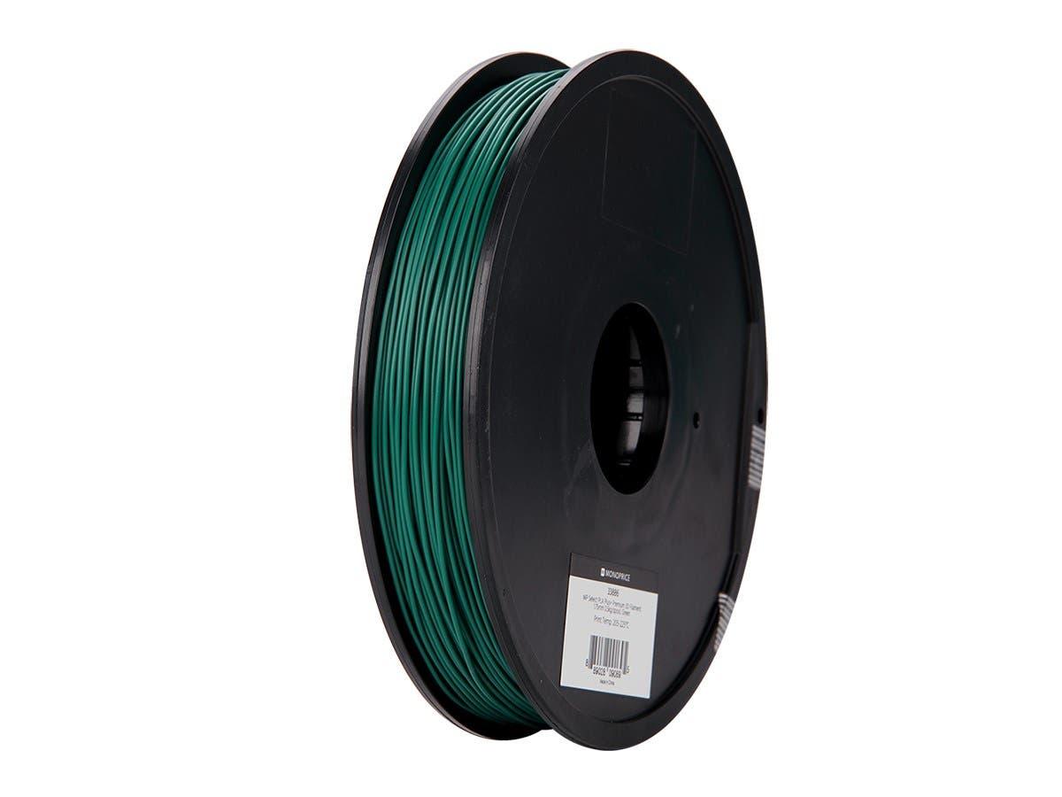 Monoprice MP Select PLA Plus+ Premium 3D Filament 1.75mm 0.5kg/spool, Green-Large-Image-1