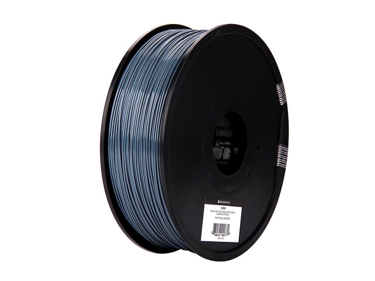 Monoprice Premium 3D Printer Filament PETG 1.75mm, 1kg/Spool Solid Gray - main image