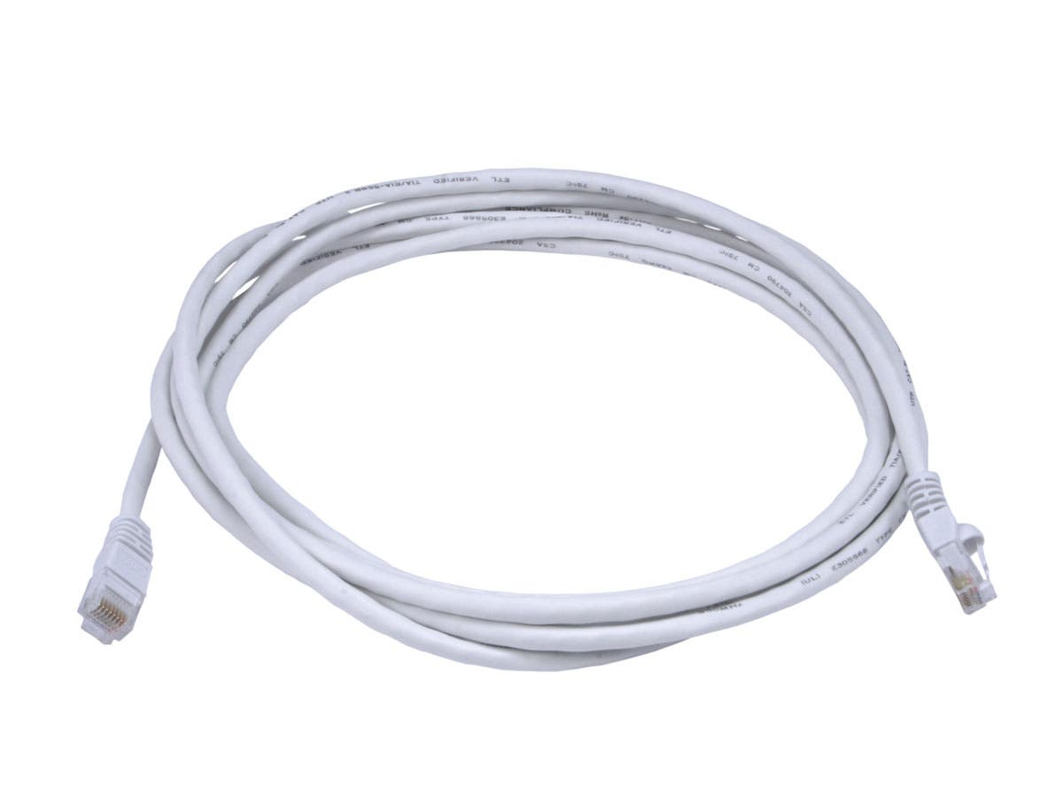 Cat5e 24AWG UTP Ethernet Network Patch Cable, 10ft White