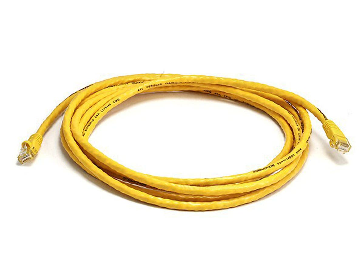 Cat5e 24AWG UTP Ethernet Network Patch Cable, 10ft Yellow