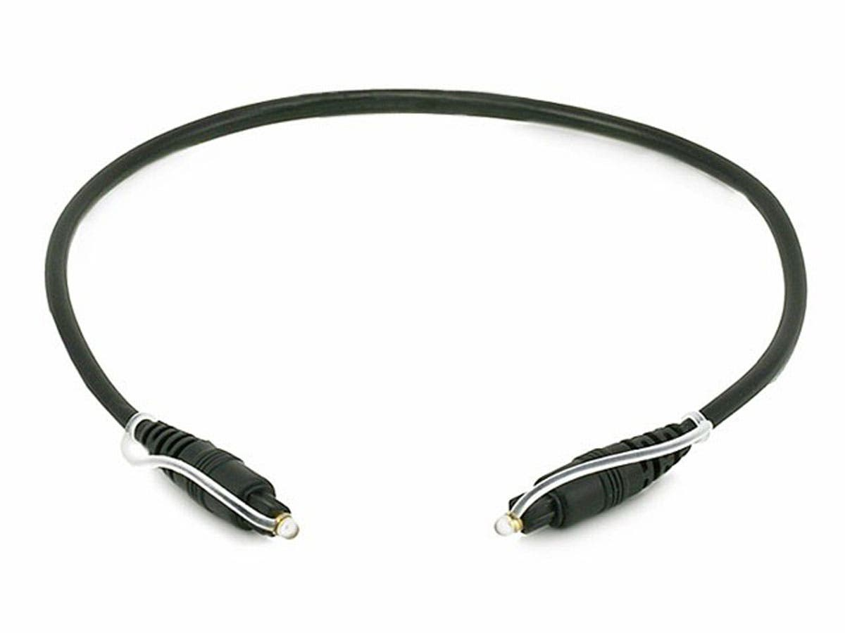 S/PDIF (Toslink) Digital Optical Audio Cable, 18 in