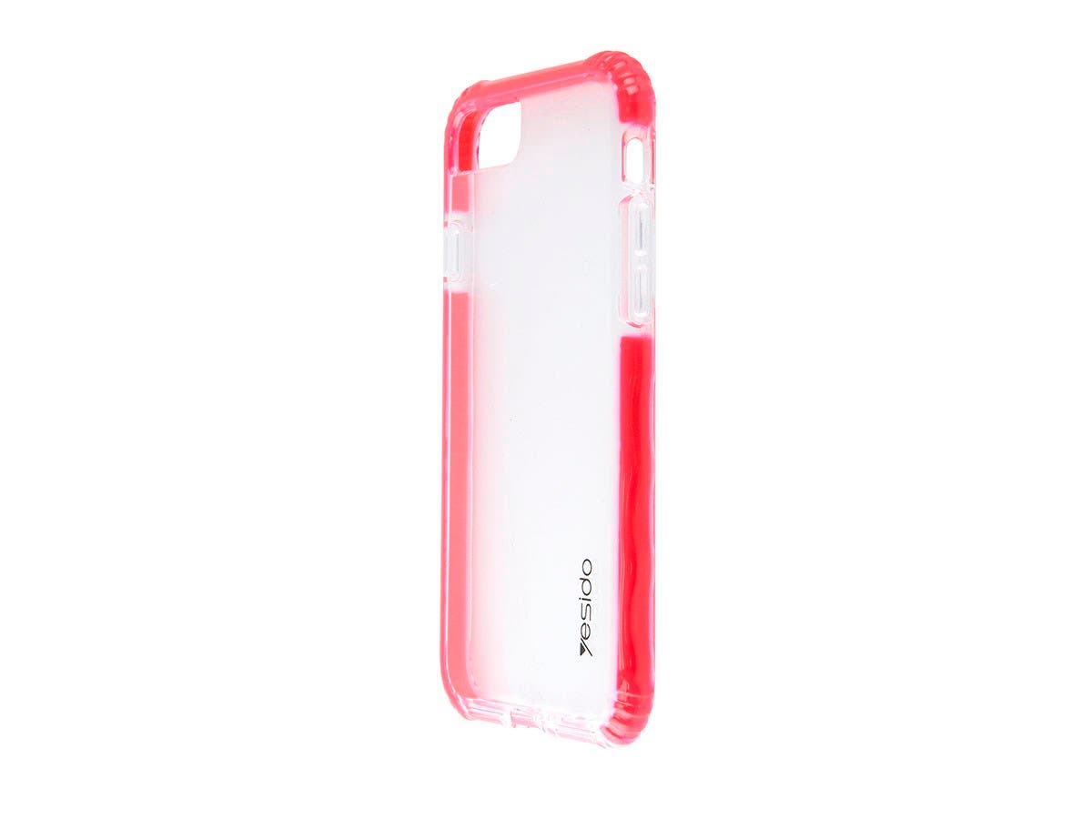 TPU+TPE Red and Clear Color Smartphone case for Apple Iphone 8-Large-Image-1