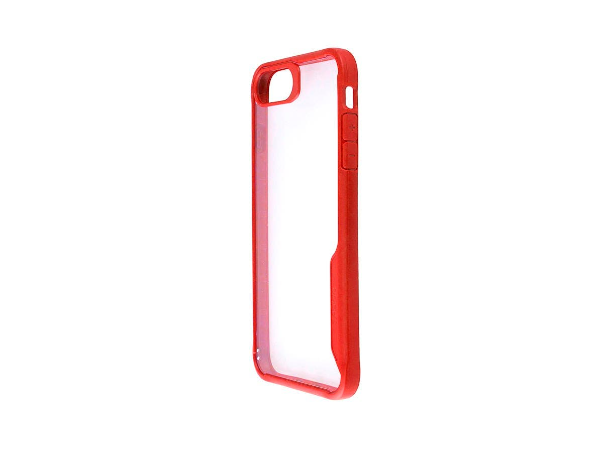 Shockproof Protective case Red + Transparent Clear Anti-Slip for iPhone 8 PLUS-Large-Image-1
