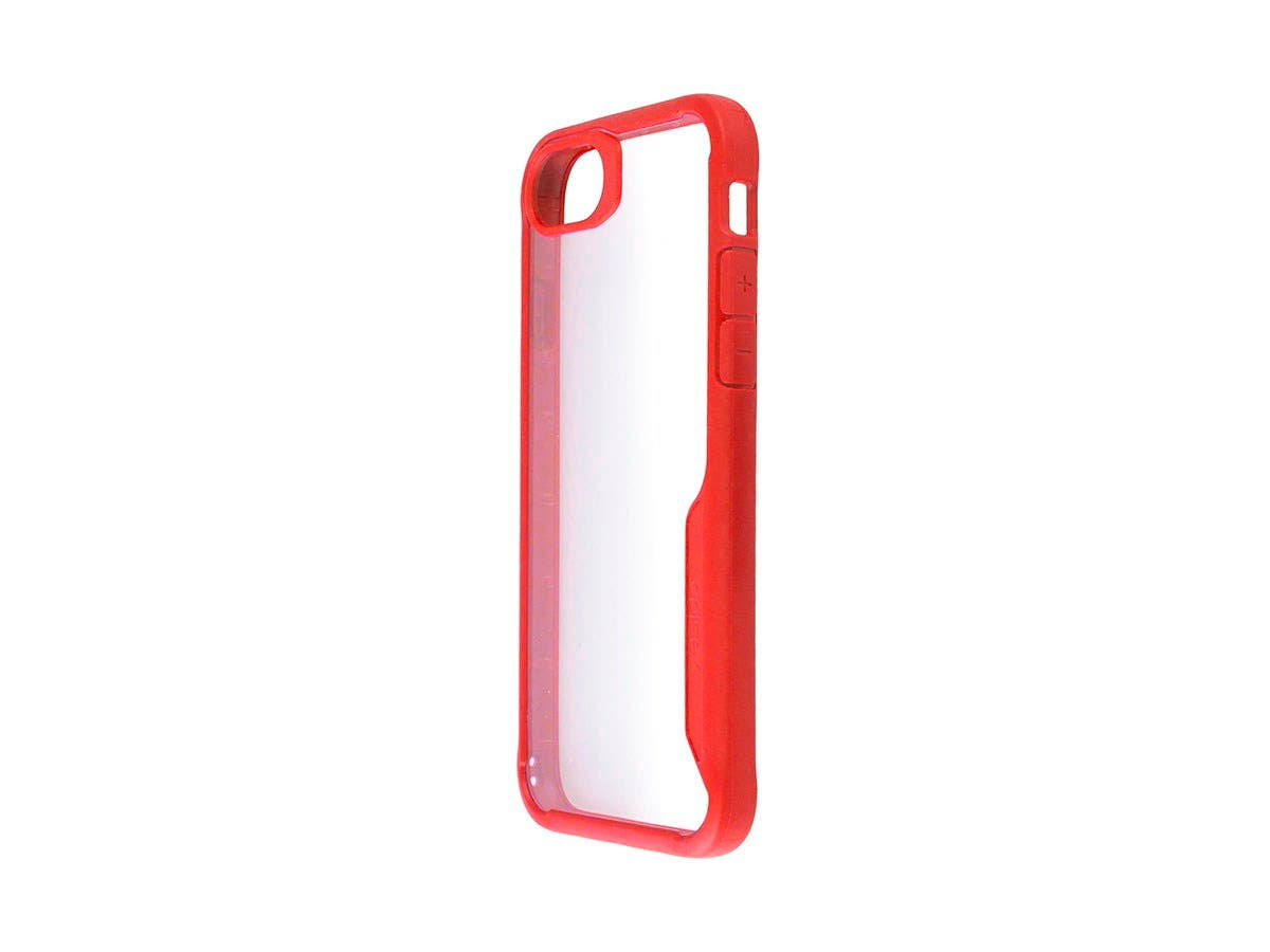 Shockproof Protective case RED + Transparent Clear Anti-Slip for iPhone X-Large-Image-1
