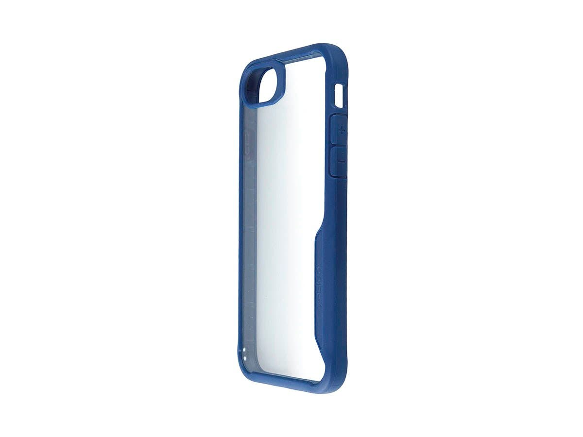 Shockproof Protective case Blue + Transparent Clear Anti-Slip for iPhone X-Large-Image-1