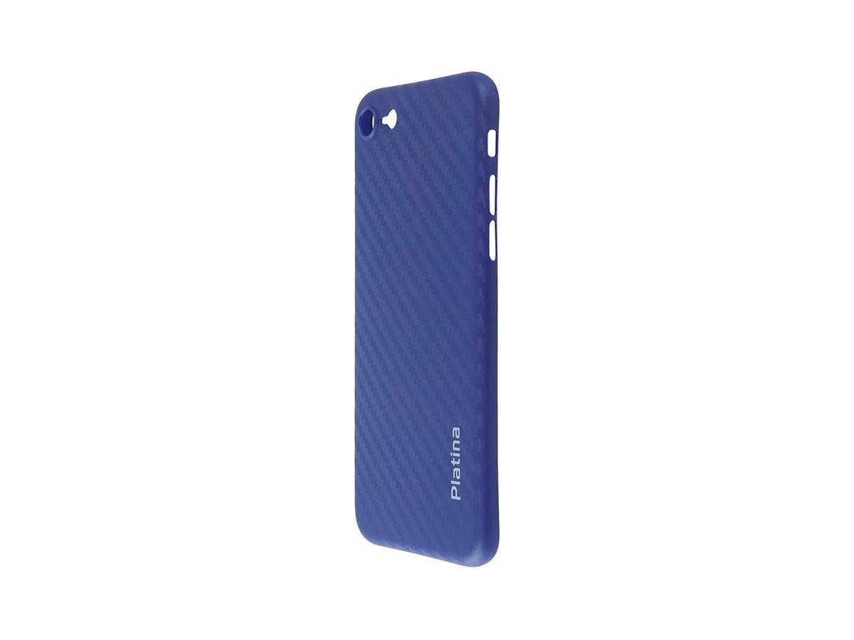 Durable Break Resistant Armor case Blue Carbon Fiber Style Shockproof iphone 7-Large-Image-1