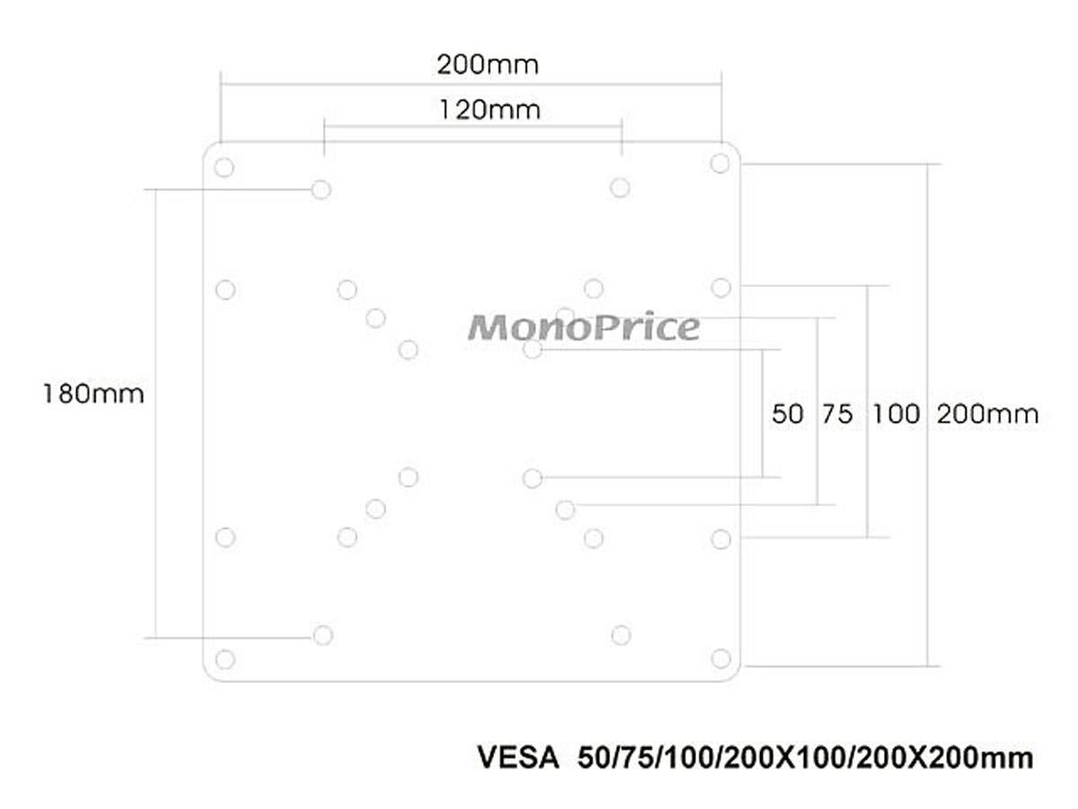 Monoprice 200x200mm Bracket Universal Vesa Adapter Plate