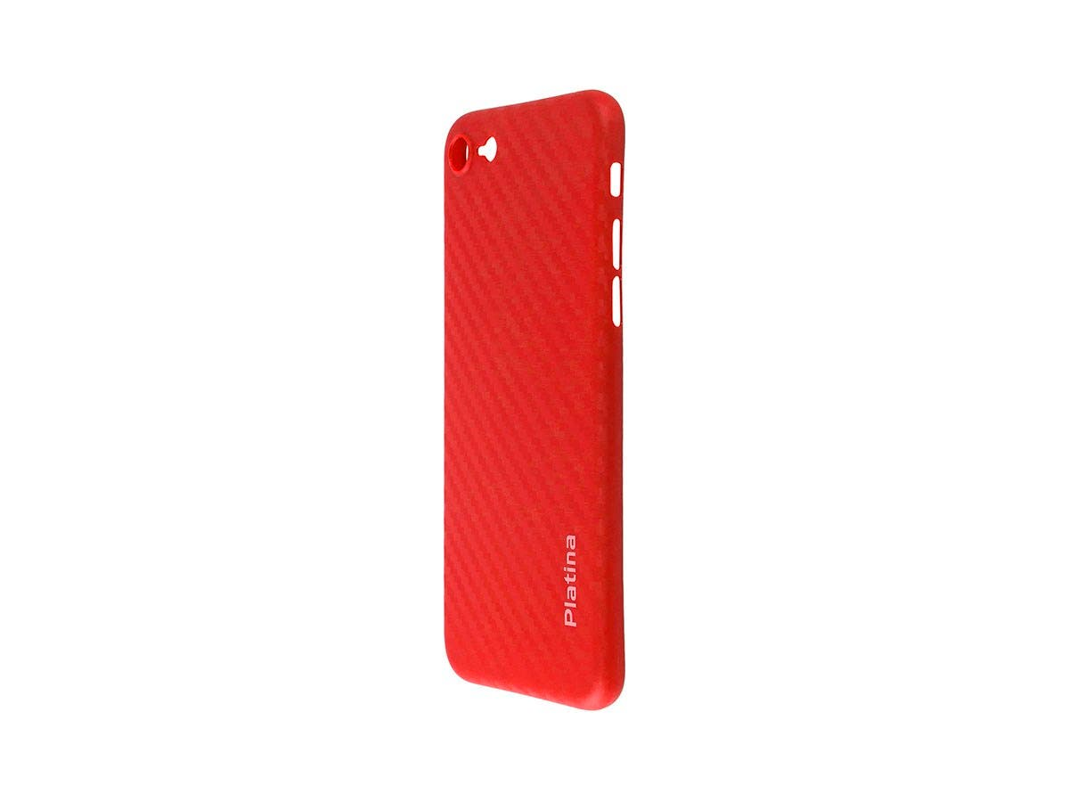 Durable Break Resistant Armor case RED Carbon Fiber Style Shockproof iphone 8-Large-Image-1