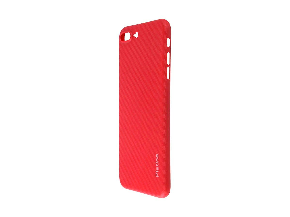 Durable Break Resistant Armor case RED Carbon Style Shockproof iphone 8 PLUS-Large-Image-1