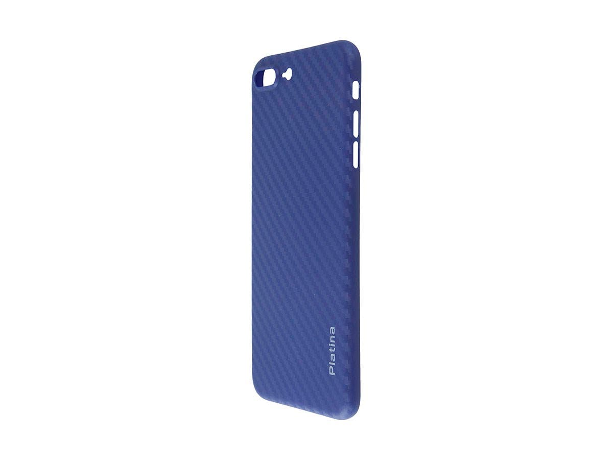 Durable Break Resistant Armor case Blue Carbon Style Shockproof iphone 8 PLUS-Large-Image-1
