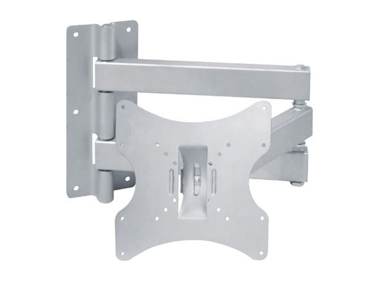 Monoprice Full-Motion Articulating TV Wall Mount Bracket - For TVs 23in to 42in, Max Weight 66lbs, Extension Range of 3.7in to 27.9in, VESA Patterns Up to 200x200, Works with Concrete & Brick-Large-Image-1