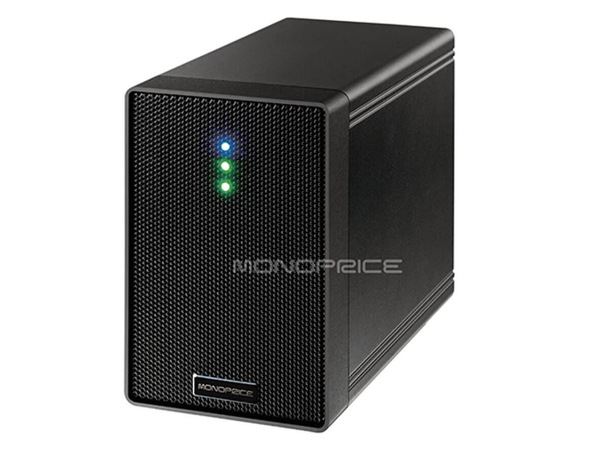 Monoprice 3.5 Dual Bay USB 3.0 RAID HDD Enclosure (Open Box)-Large-Image-1