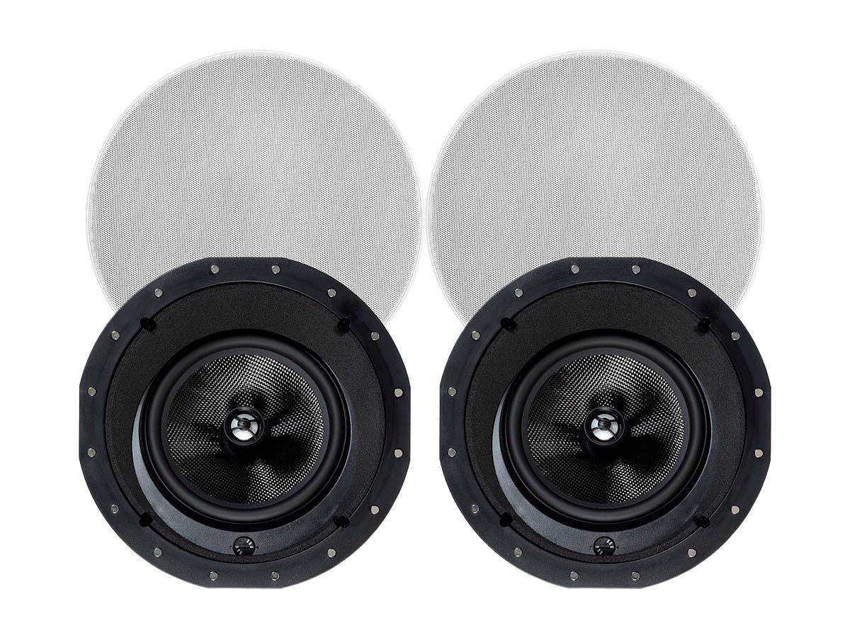Monoprice Alpha In Ceiling Speakers 8in Carbon Fiber 2 Way
