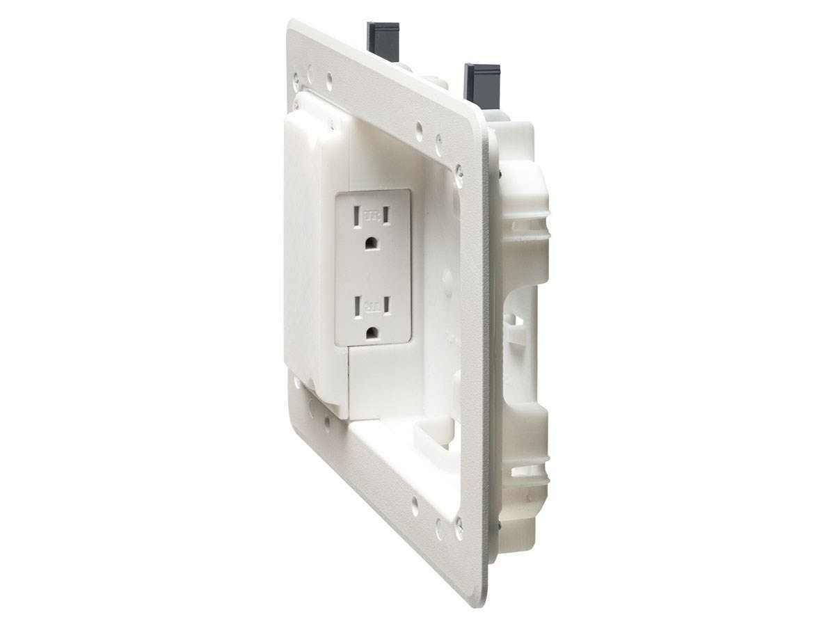 Low Profile Recessed Box For Shallow Wall Depths Duplex Panel This Controller Includes Circuit Breakers And Cat7 Small Image 2