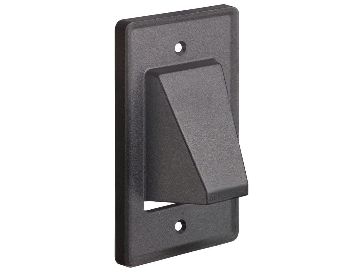 Arlington Reversible 1-Gang Low Voltage Scoop Wall Plate, Black (CE1BL) - main image
