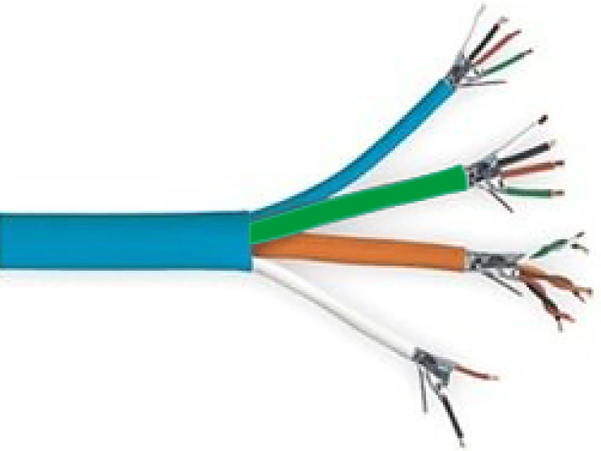 Syston Access Control Cable, 18/4C Unshld+22/3PR Shld+22/2C Unshld+22/4C Unshld CMR Blue 500ft Spool-Large-Image-1