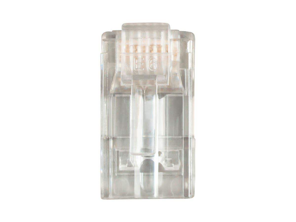 8P8C RJ45 Plug with EZ Passthrough for Cat6 Ethernet Cable 100pcs/pack-Large-Image-1