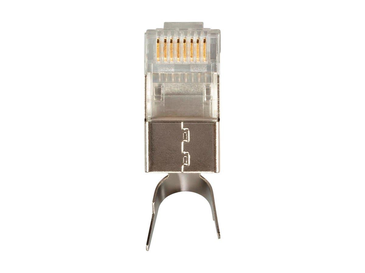 8P8C Shielded (External Ground) RJ45 Plug for Cat6a Ethernet Cable 25pcs/pack-Large-Image-1