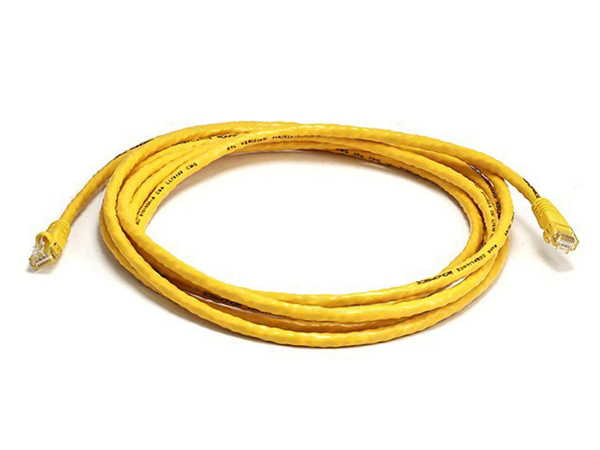 Cat6 24AWG UTP Ethernet Network Patch Cable, 10ft Yellow