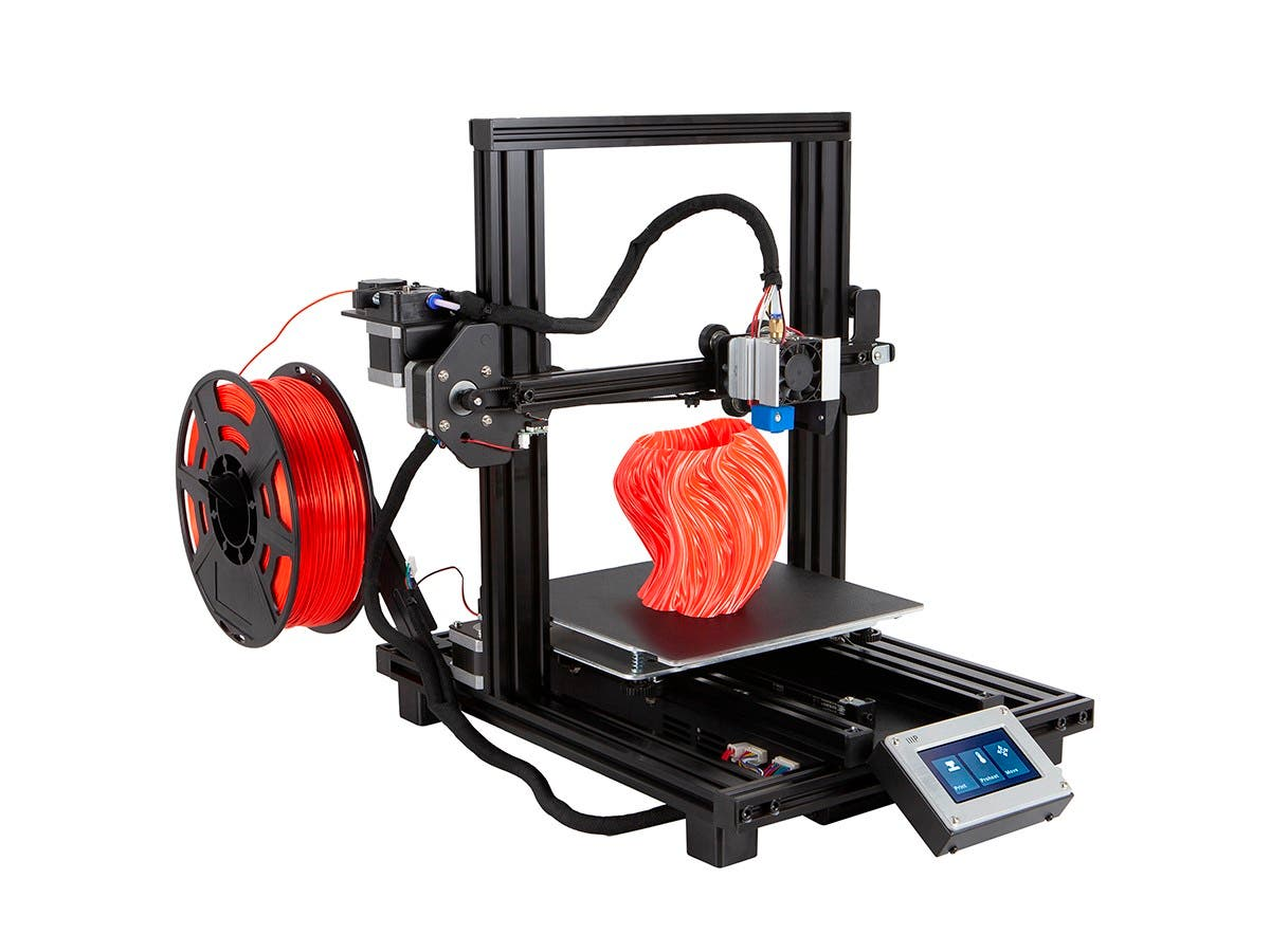MP10 Mini 200x200mm 3D Printer. Magnetic Heated Build Plate, Resume Printing Function, Assisted Leveling, and Touch Screen-Large-Image-1