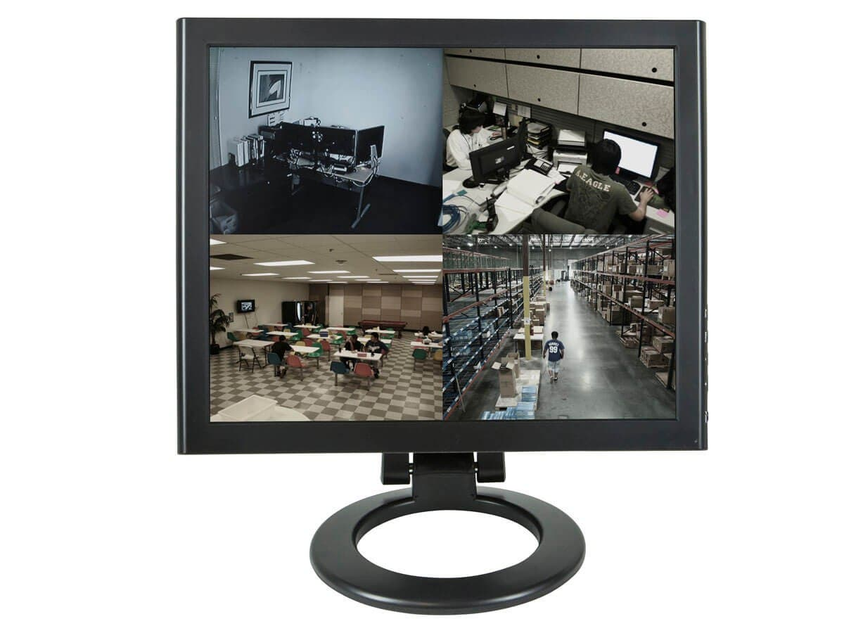 "17"" Professional CCTV LCD Monitor with BNC, HDMI, and VGA (Open Box)-Large-Image-1"