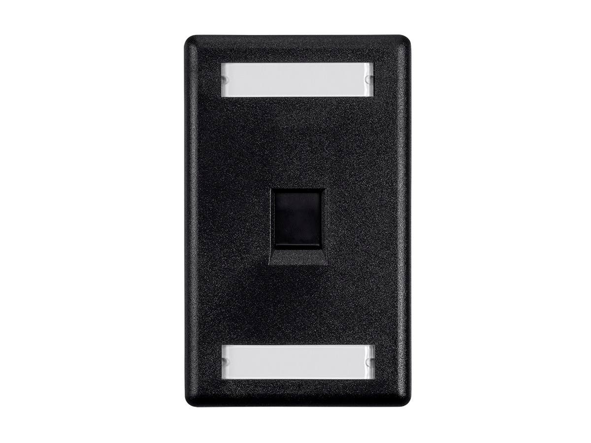 Gangboxes Black Monoprice Keystone 1 Hole Decor Insert Wallpalte for Ethernet Networks Or Home Theater Interconnects Keystones