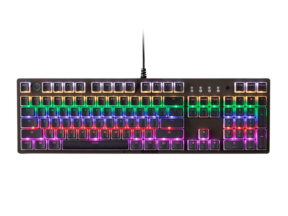 Blackbird Gaming by Monoprice MP810 Optical Mechanical Spillproof Gaming Keyboard - LightStrike Blue Switch, RGB-Large-Image-1