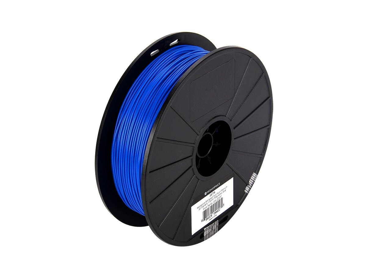 Monoprice MP Select PLA Plus+ Premium 3D Filament 1.75mm 700g/spool, Blue-Large-Image-1