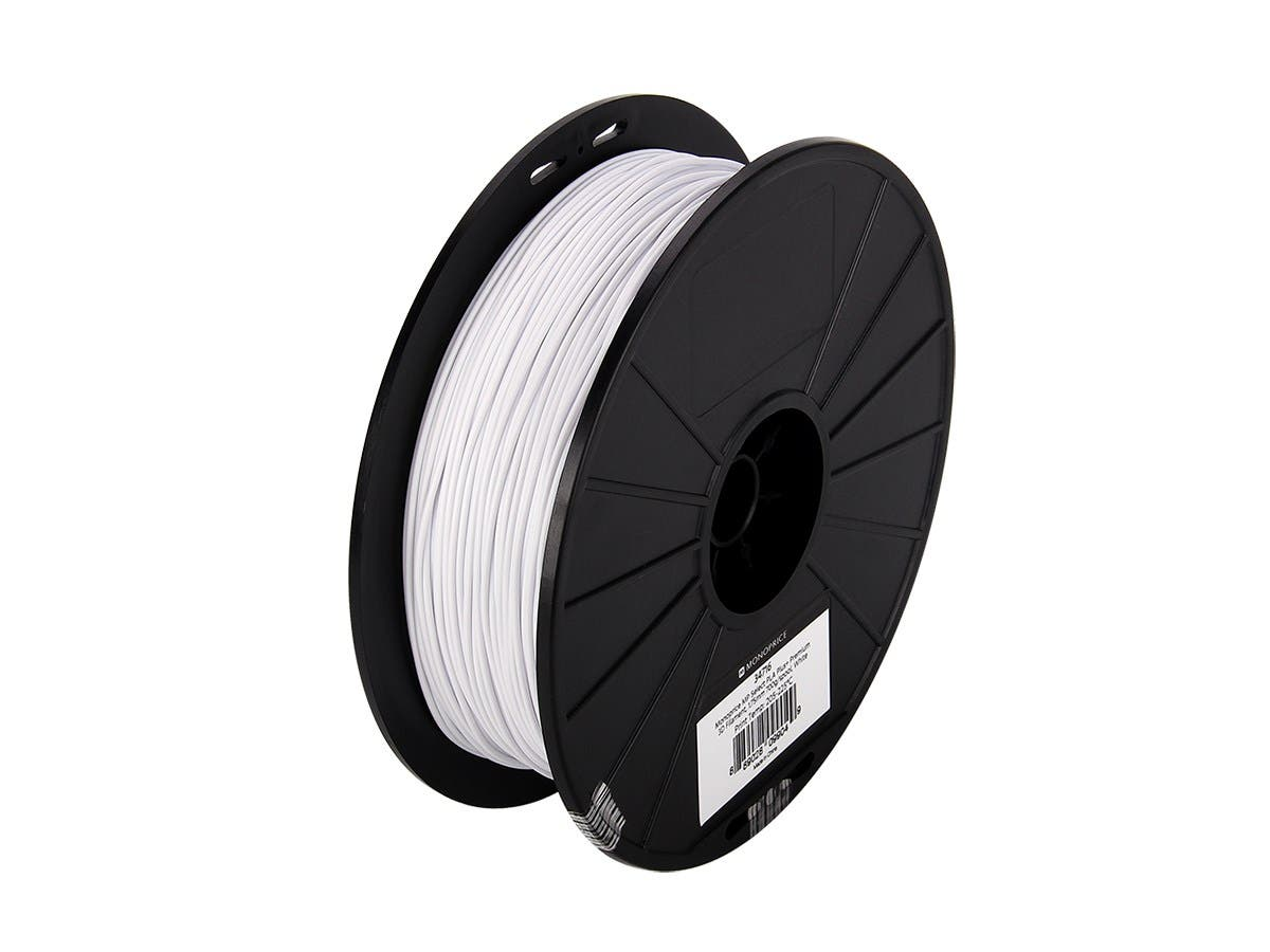 Monoprice MP Select PLA Plus+ Premium 3D Filament 1.75mm 700g/spool, White-Large-Image-1
