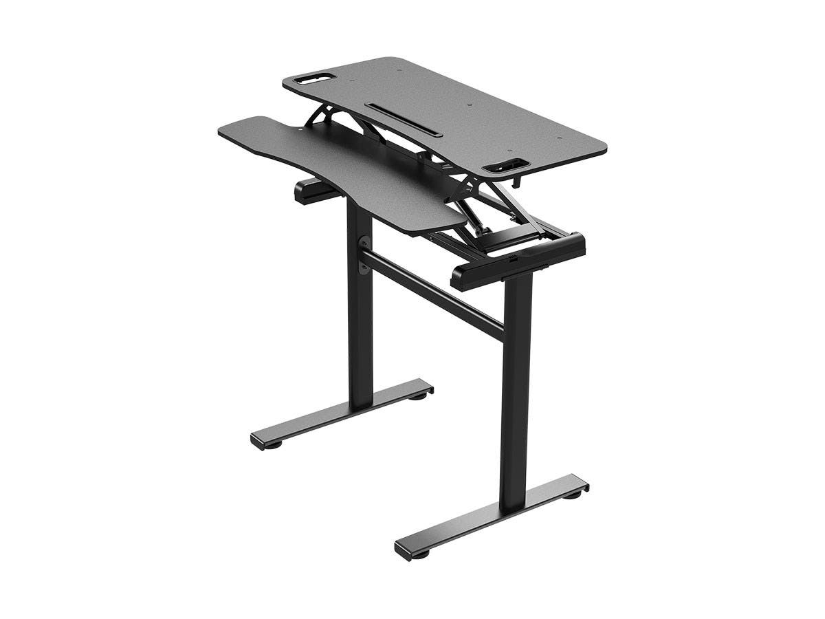"Workstream by Monoprice Compact Standalone Sit-Stand Workstation Computer Desk Table, 37""-Large-Image-1"