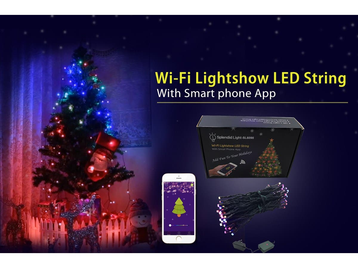Smart Rgb Holiday Tree Lights 98 Multicolor Leds With Wireless
