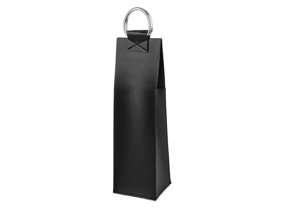 Admiral Faux Leather Black Wine Tote -Large-Image-1