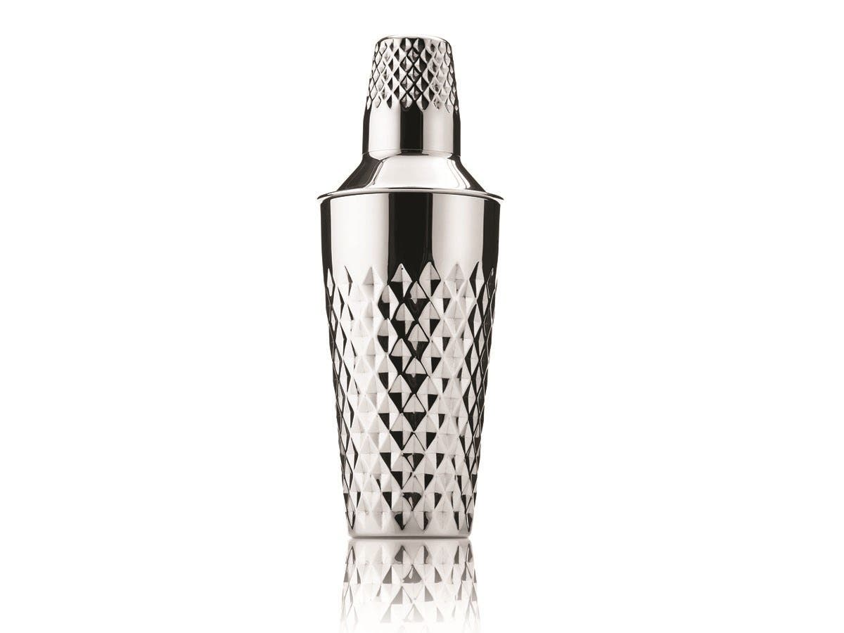 Admiral Stainless Steel Faceted Cocktail Shaker -Large-Image-1