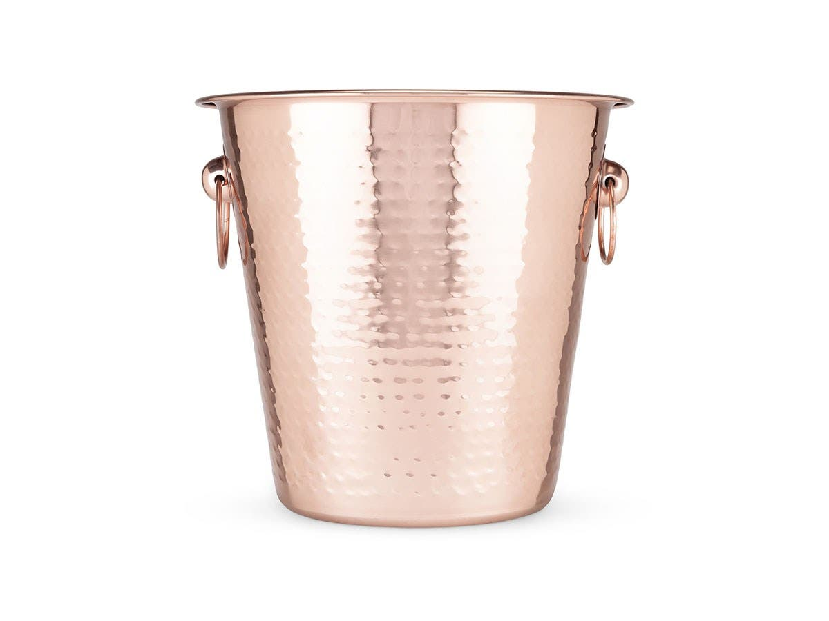 Old Kentucky Home Hammered Copper Ice Bucket -Large-Image-1