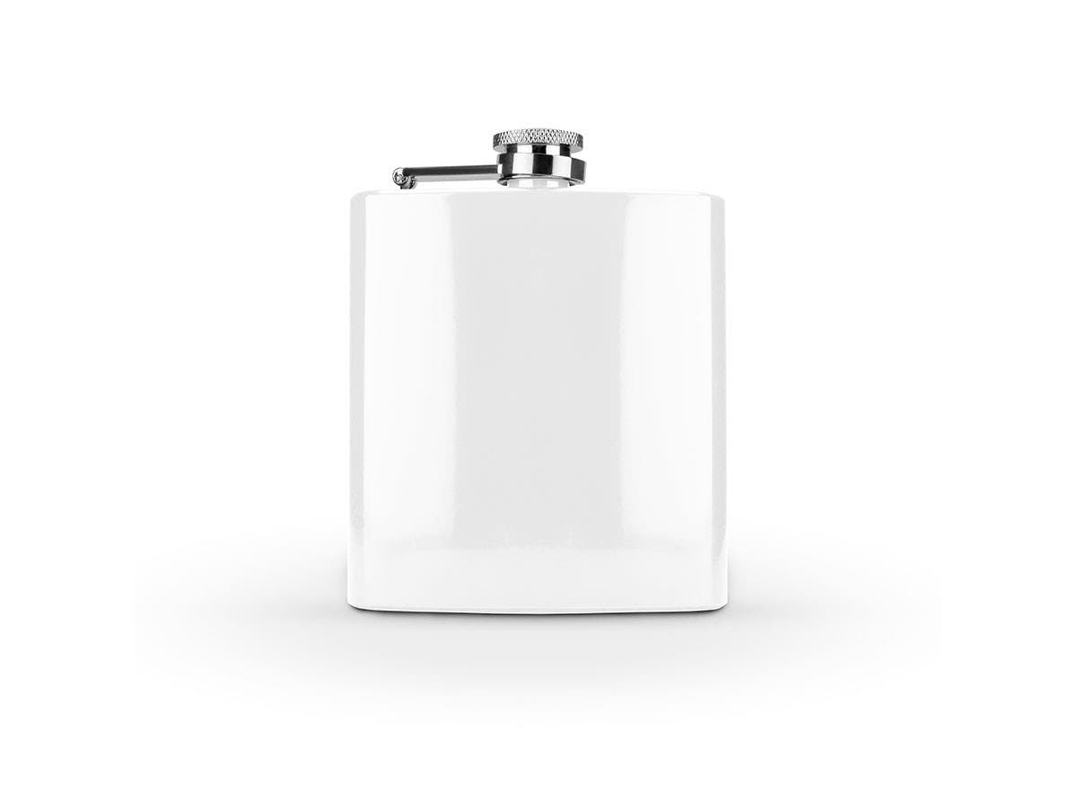 Spectrum Glossy White 6 Ounce Flask -Large-Image-1