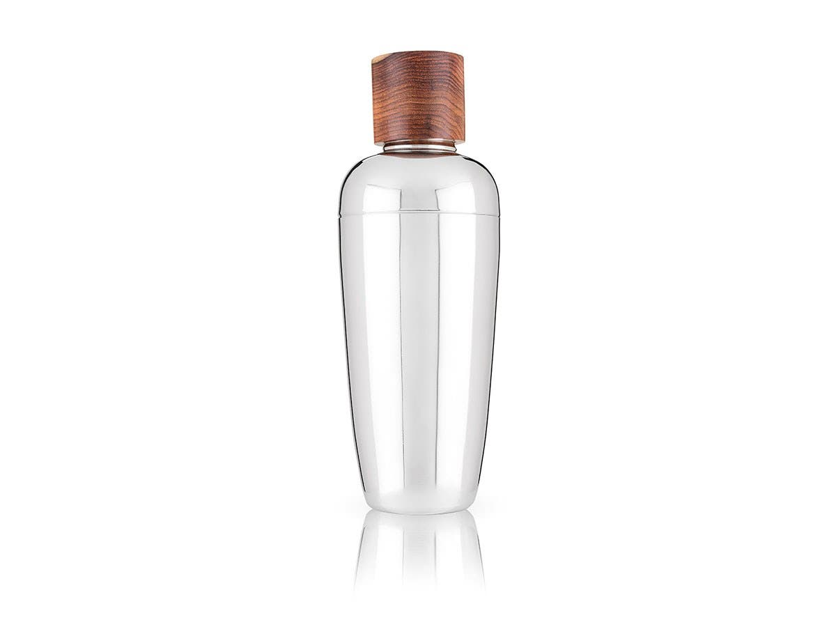 Admiral Wood & Stainless Steel Cocktail Shaker -Large-Image-1