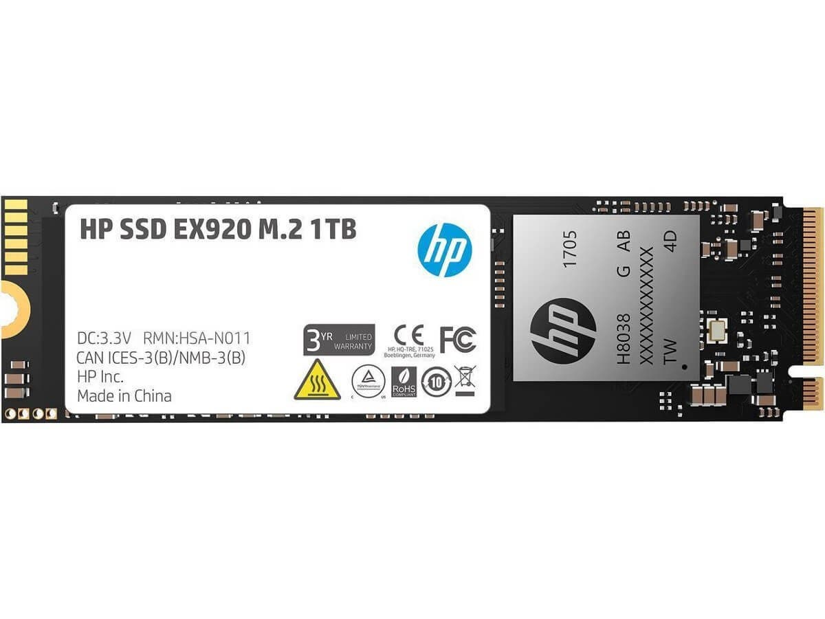 HP EX920 M.2 1TB PCIe 3.0 x4 NVMe 3D TLC NAND Internal Solid State Drive (SSD) (Open Box)-Large-Image-1