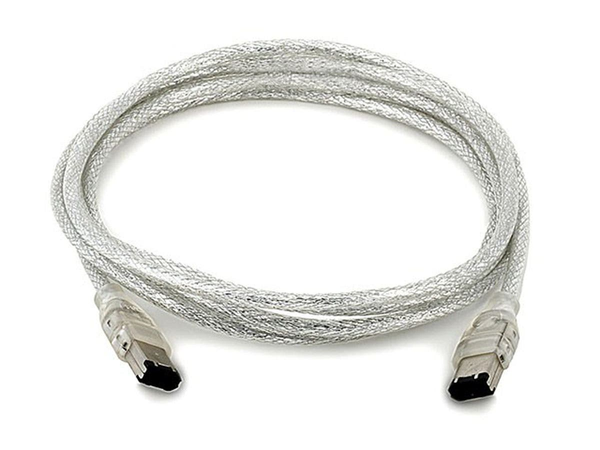 IEEE-1394 FireWire® i.LINK® DV Cable 6P-6P M/M -  6ft (CLEAR)