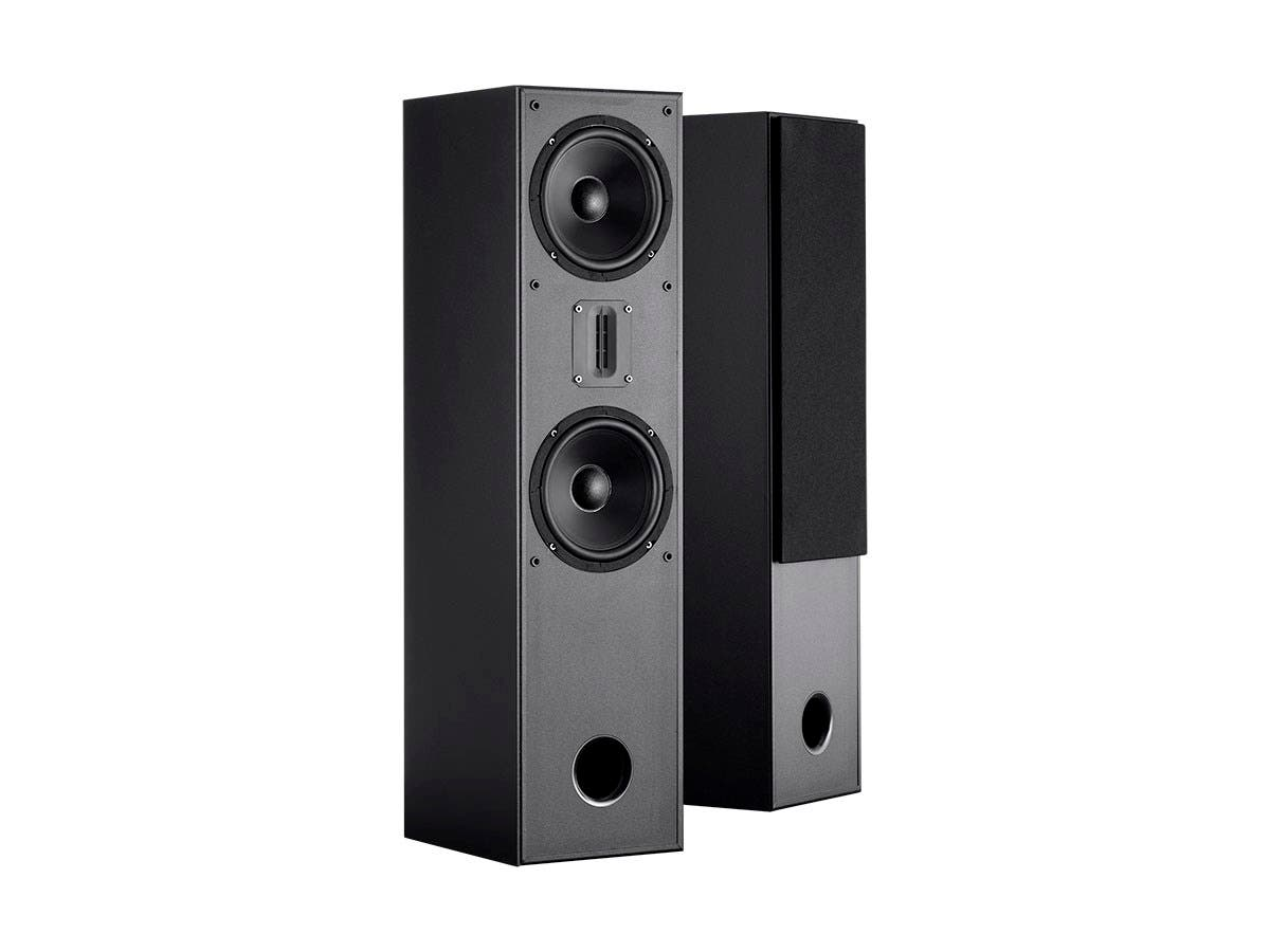Monoprice MP-T65RT Tower Home Theater Speakers with Ribbon Tweeter (Pair)-Large-Image-1