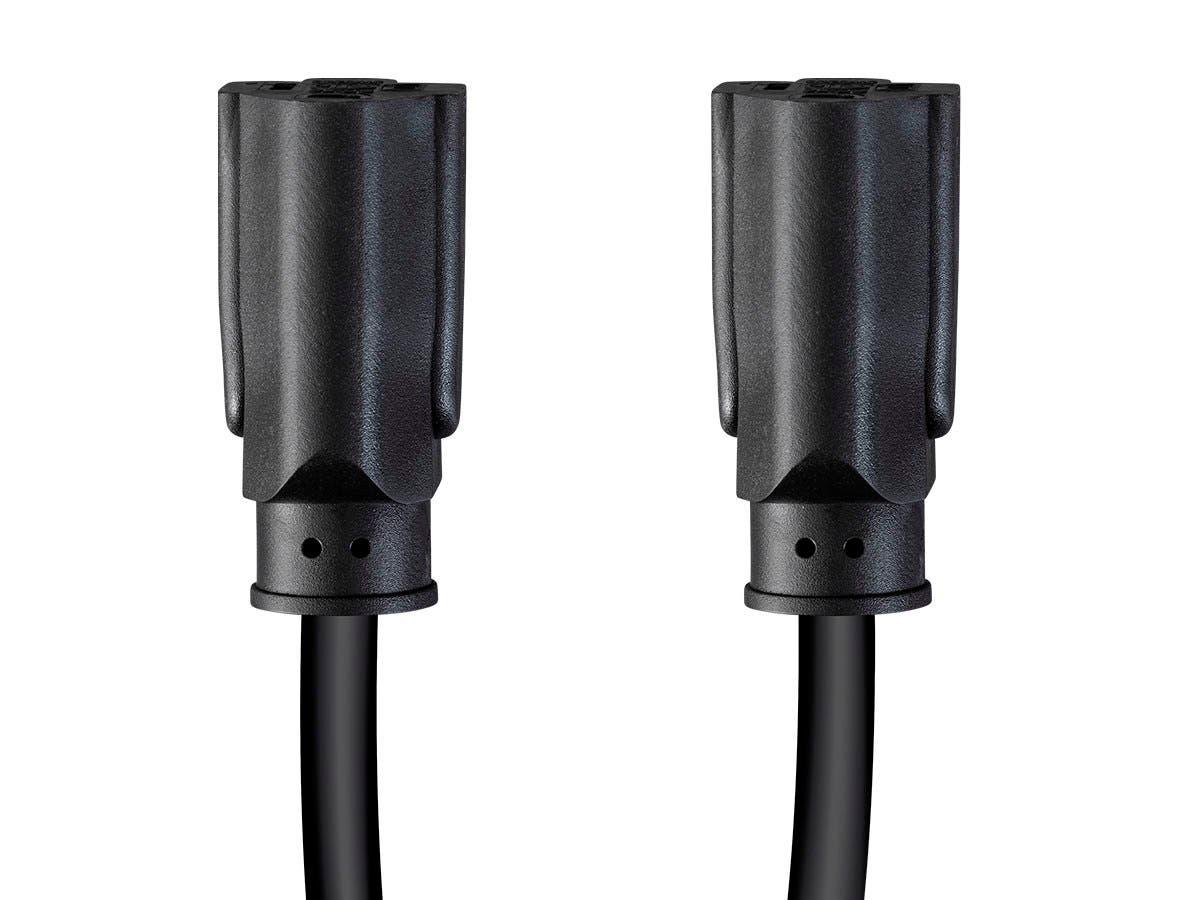 NEMA 5-15P to 2x NEMA 5-15R 16AWG Monoprice Splitter Power Cord 1.5ft Black
