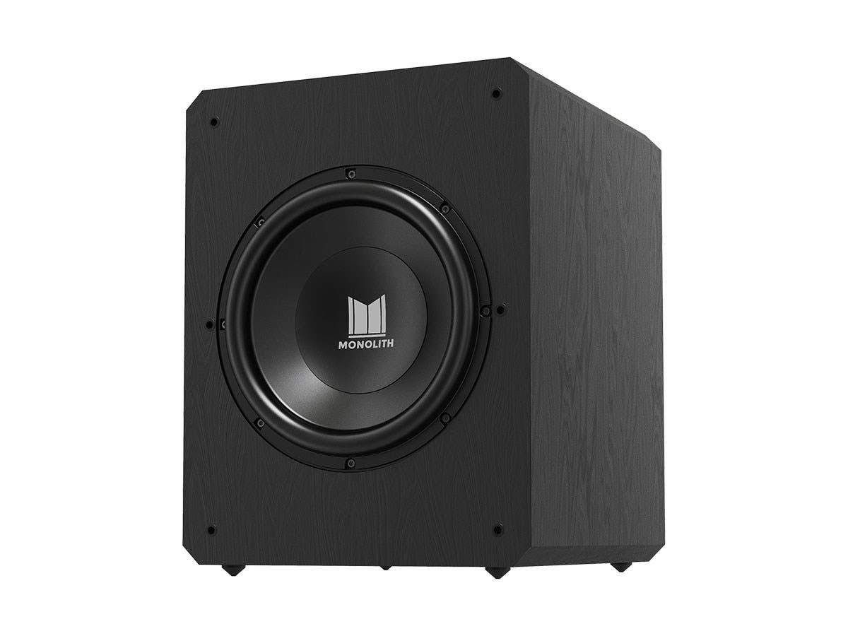 "Monolith by Monoprice M12-S 12"" THX Certified Sealed 500 Watt Powered Subwoofer-Large-Image-1"