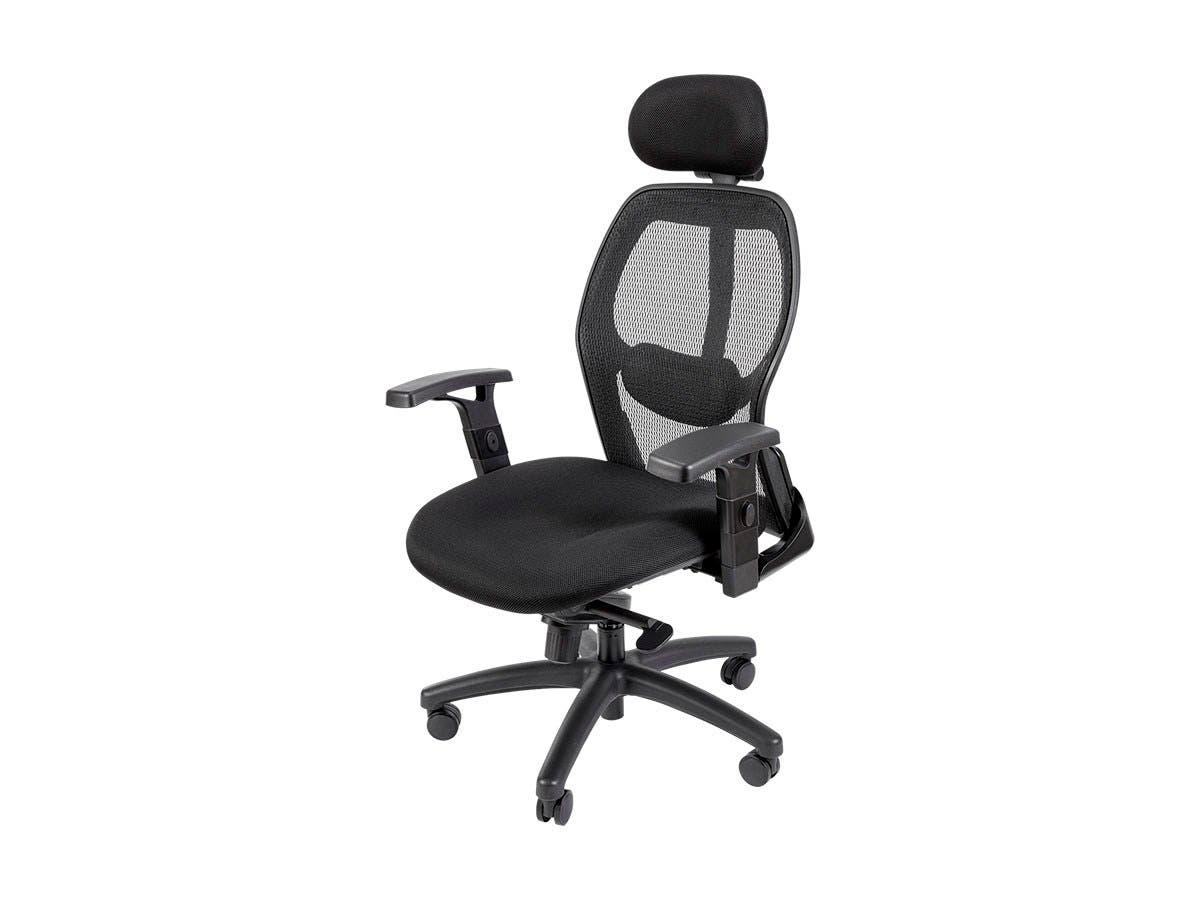 Workstream By Monoprice Ergonomic Office Chair With Headrest Black Monoprice Com