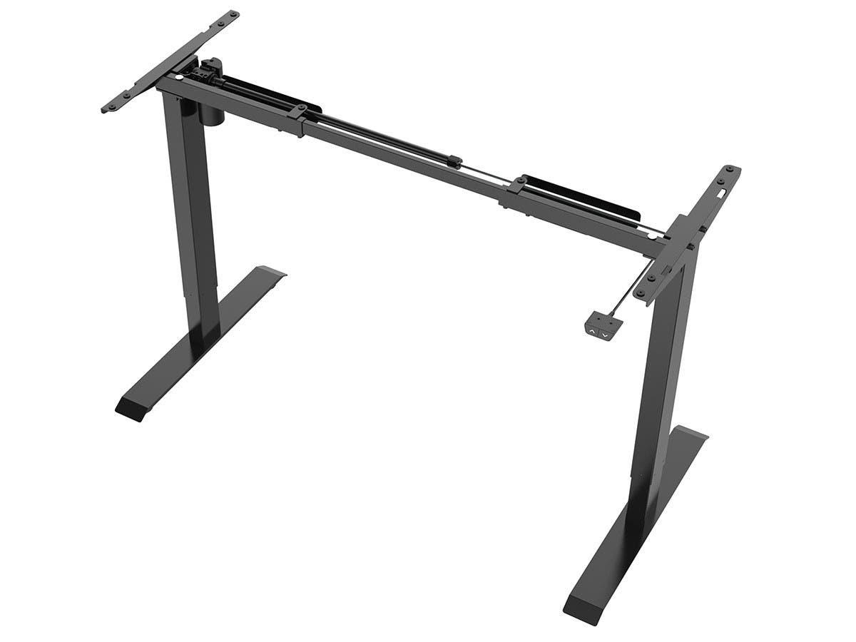 Workstream by Monoprice Single Motor Back to Basics Electric Sit-Stand Desk, Black-Large-Image-1