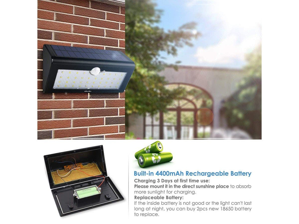 Albrillo 36 Led Solar Lights Outdoor Motion Sensor Light Have Replaced An Outside Security Pir Twin Wireless Wall Night