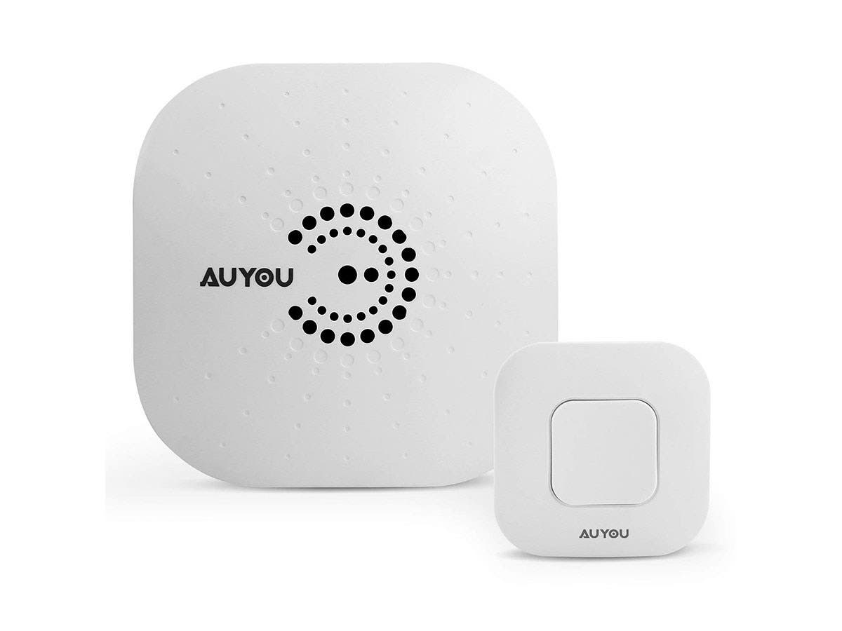 AuYou Doorbell wireless Long Range Alert System 1 Receivers and 1 Remote Control Transmitter-Large-Image-1