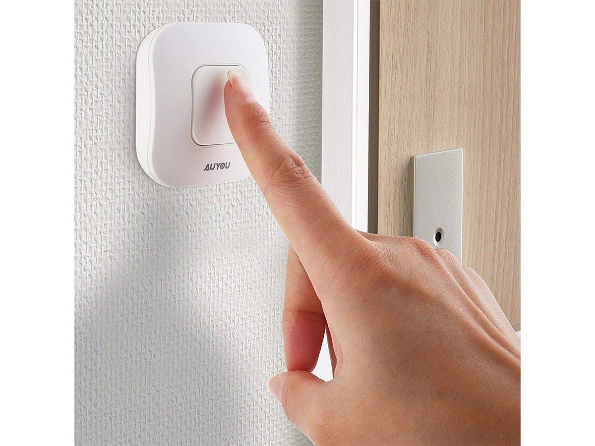 AuYou Doorbell wireless Long Range Alert System 1 Receivers