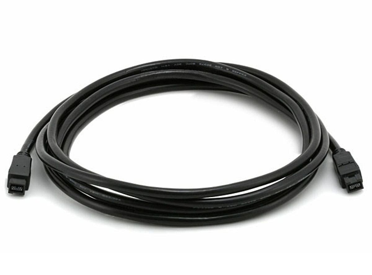 9-pin/9-pin BETA FireWire 800/FireWire 800 Cable, 10ft Black