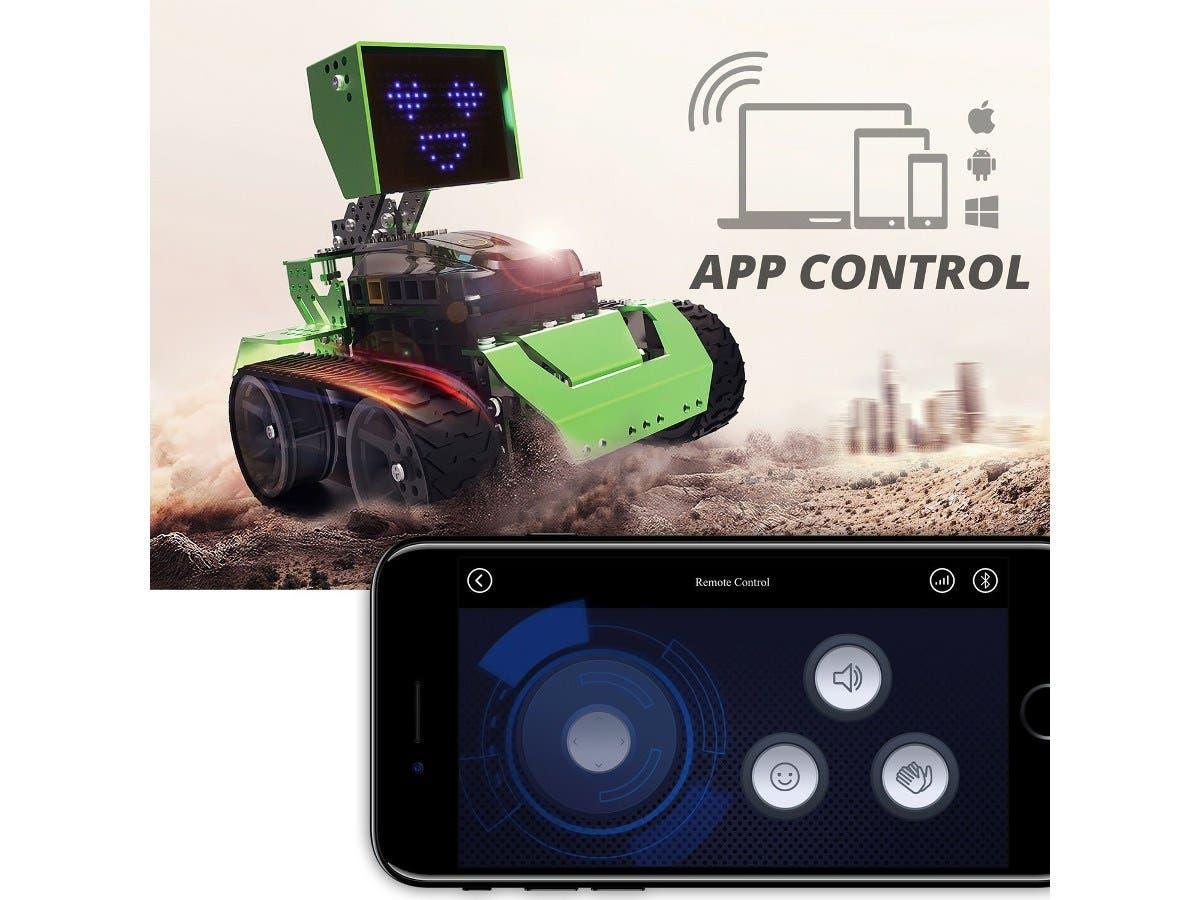 Robobloq Metal Blocks Qoopers Robot Building Kit 6 In 1 Fm Wireless Microphone Available At Electronic Kits Robotics