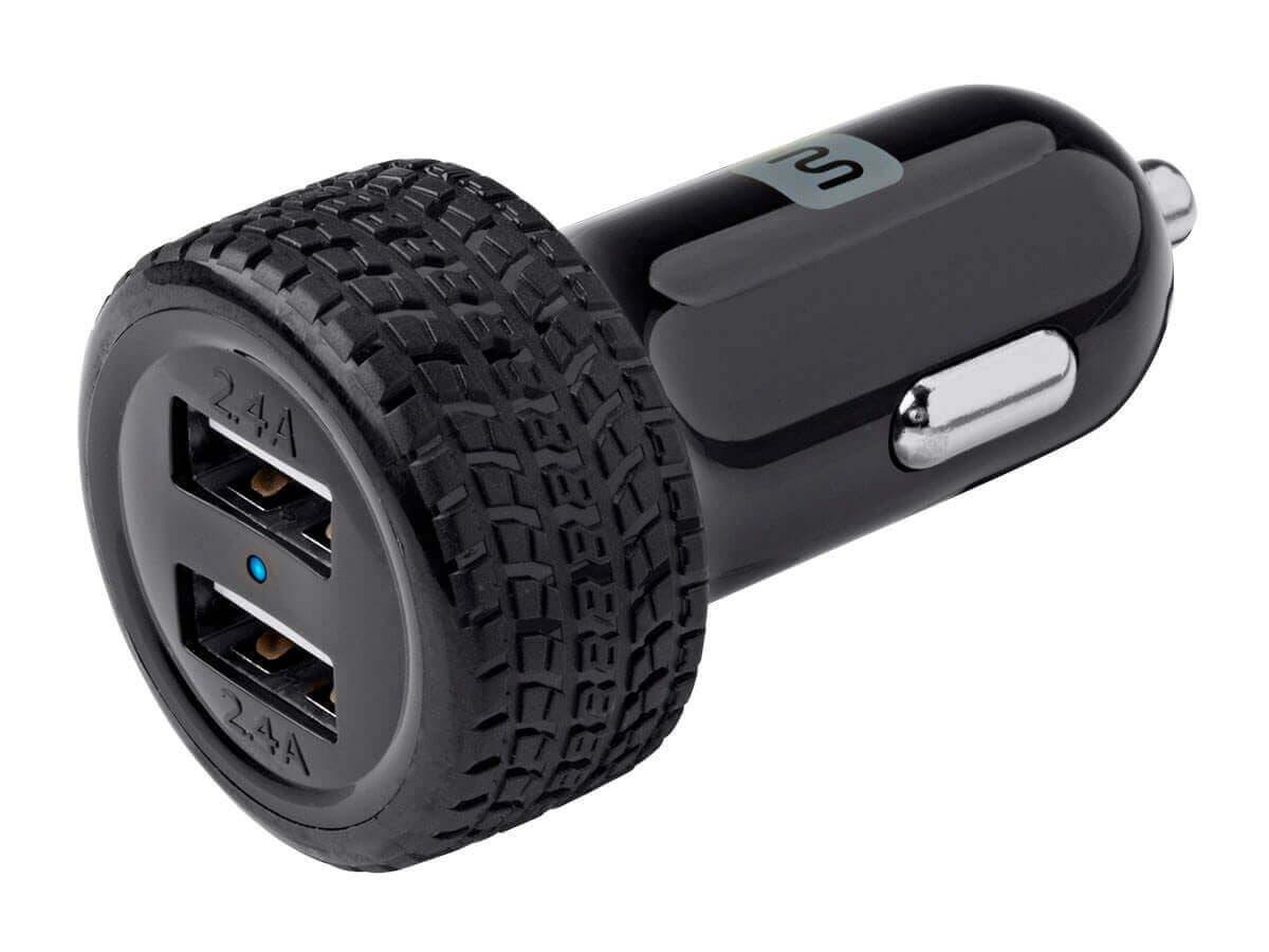 Monoprice 2-Port USB Car Charger, 4.8A Black (Open Box)-Large-Image-1